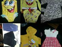 Spongebob swimsuit 24M. $5. 7 item clothing 18M. All