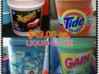 REQUIRED SOAP!! LIQUID TIDE, GAIN, DOWNY & & MIGUIAR'S