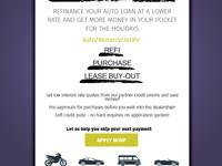 Refinance or get pre-approved for your auto loan today!