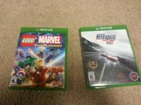 Need for Speed:Rivals and Lego Marvel Heroes for sale,