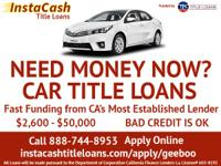 All InstaCash Title Loans are funded by Trading