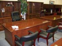 TOP LEFT PIC--------EXECUTIVE REAL WOOD DESK WITH