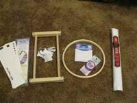 I have 7 project cards,2 holders, 2 needles, 2 rings to