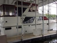 1986 42' CARVER MOTOR YACHT, 454 TWIN GAS ENGINES,