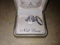 Neil Street involvement ring and wedding band set. Ring
