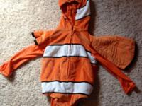 Disney Finding Nemo costume. For infant 12m. In like