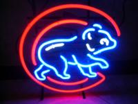 LIKE NEW CHICAGO CUBS BASEBALL NEON SIGN IN EXCELLENT