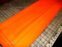 """Neon Orange Polyester Fabric 66"""" wide by 8 yards plus"""