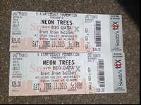 2 Neon Trees/Big Data tickets on June 13th at UVU. $20