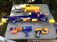 Nerf guns for sale.  $35.00 for the lot or will break