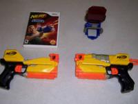 Nerf Game  (N Strike Elite)  and Guns for the Wii.  $25