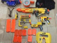 Up for sale is this package of Nerf guns and vest. The