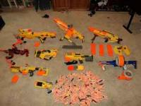 Several Nerf brand guns that work well, Call Jonathan