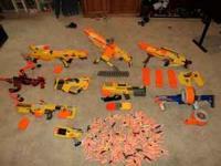 Several Nerf brand guns that work well, Call Jonathan