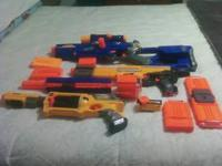 3 almost new nerf guns for sale. In excellent