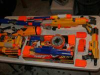 For sale are 6 nerf guns; Raider CS35 alpha trooper
