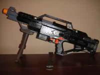 Selling My Nerf Stampede painted black and dark grey