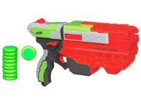 The Nerf Vortex Vigilion Blaster is a 5-disc blaster