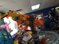 Nerf Vulcon EBF-25. Has Extra rounds. Features 5