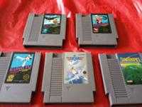 Lot of 5 games - Kung Fu, Excitebike, Slalom, Top Gun