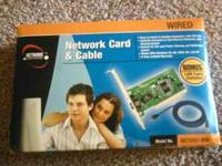 Network Card & Cable. Still in box, never opened.