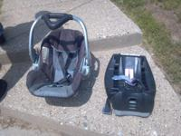 Carseat and base Just needs a little cleaning up!  //
