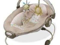 bouncer seat, very soft, has two positions, comes with