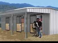 3 Stall all steeel horse barn. Never erected, $9300,