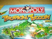 Never Opened Monopoly Tropical Tycoon DVD Game. Would