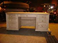 "6' X 32"" UNFINISHED SOLID WOOD EXECUTIVE DESK! Stain it"