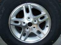 "This 16"" alloy wheel and Goodyear Eagle LS tire are"