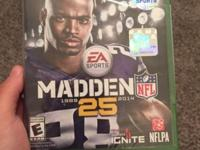 Madden 25 for Xbox One. Brand new. Not used. Wrapped up