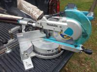 New 10 Inch Sliding Compound Miter Saw Features Laser