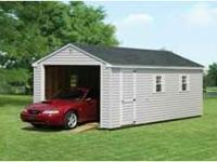 New 12 x 24 Vinyl Amish built garage shed with only