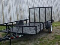"2012 New 12ft Utility Trailer it is 6' 4"" wide between"