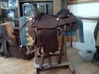 This saddle has only been on horse one time. It is
