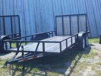 New 2012 Black 16ft Utility Trailer w/ removable 4ft