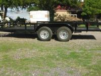 Brand New 16x76in ATV Trailer Built in Ramps spare tire