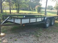2016 16x76 Utility Trailer 4400 gvw 3500lb axles 15in