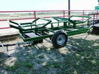 New 2-Bale Hay Hauler. John Deer Green, w/full wrap