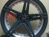 "BRAND NEW 20"" INCH ST-ODIN BLACK MACHINE STAGGERED"