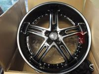 "BRAND NEW 20"" INCH VEYRUN BLACK MACHINED WHEELS JUST"