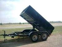 New 2010 6x10 Hydraulic Dump Trailer. Black w/3,500lb