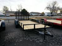 "6'4"" x 12' Single Axle Utility Trailer NEW With gate,"