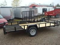 "82""X14 ANGLE IRON OPEN TRAILERS, 3500# SINGLE AXEL ON"
