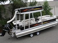 We sell about 100 pontoon boats a year with the swim