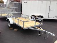 This trailer is constructed with Galvanized Steel to