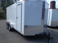 BRAND NEW 2014 7X16+ 2' V NOSE ENCLOSED TRAILER HEAVY