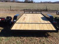 "83"" x18 Car Hauler Dovetail one Brake in stock Monday"