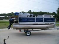 NEW 2014 PLEASURE ISLAND 14FT PONTOON POWERED BY